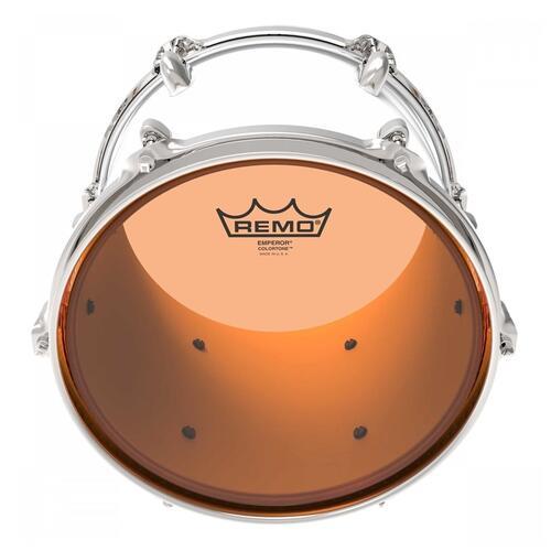 Image 2 - Remo Emperor Colortone Orange Drum Heads