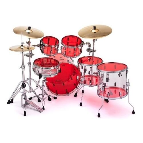 Image 2 - Remo Emperor Colortone Red Drum Heads