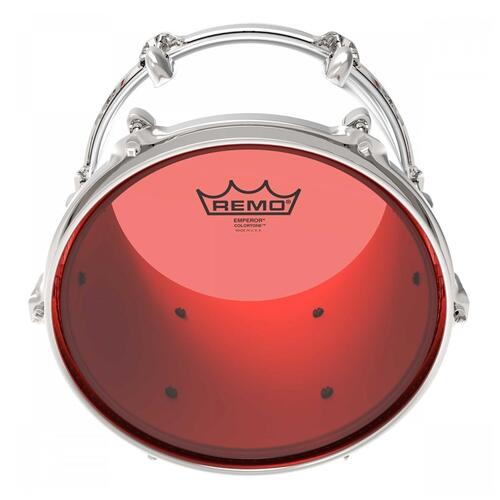 Image 3 - Remo Emperor Colortone Red Drum Heads