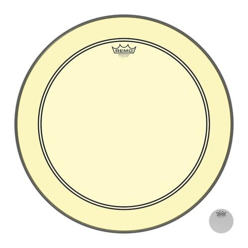 Image 1 - Remo Powerstroke 3 Colortone Yellow Bass Drum Heads