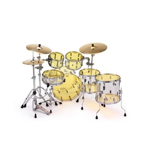 Image 3 - Remo Powerstroke 3 Colortone Yellow Bass Drum Heads