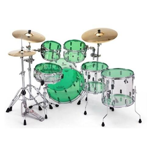 Image 3 - Remo Powerstroke 3 Colortone Green Bass Drum Heads