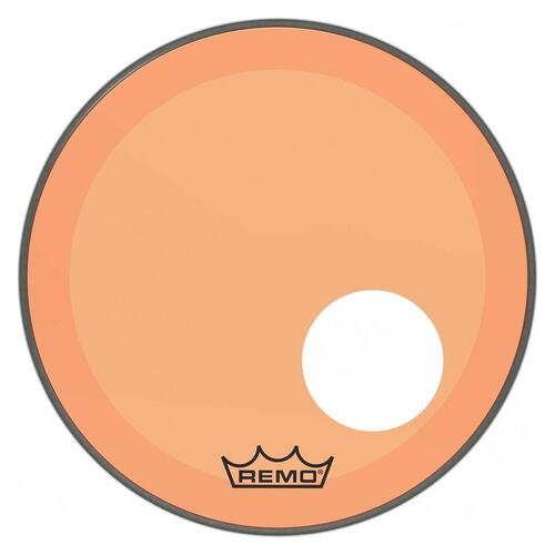 Image 1 - Remo P3 Resonant Colortone Orange Bass Drum Heads, Ported