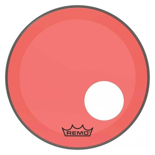 Image 1 - Remo P3 Resonant Colortone Red Bass Drum Heads, Ported