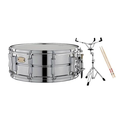 "Image 2 - Yamaha 14""x5.5"" SSS1455 Steel Snare Deal"