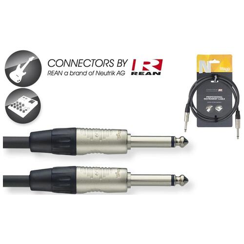 Stagg NGC Instrument Cable (3m/10ft, Neutrik/Rean) - NGC3R