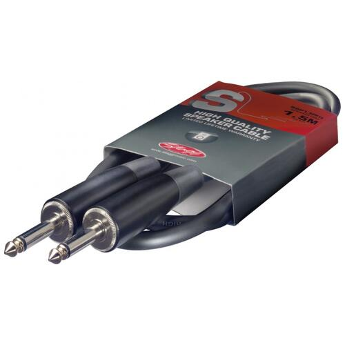 Stagg 1.5M Speaker Cable - Jack to Jack