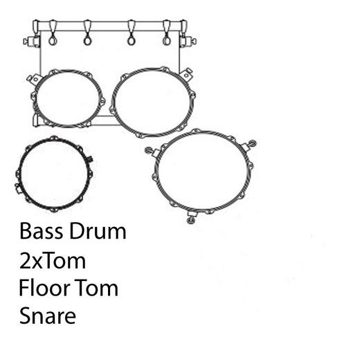 Image 1 - Mapex ST5295FT-DK Storm 22 inch Rock Fusion Storm Special Edition Drum Kit in classic black