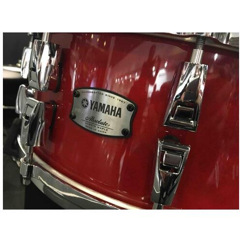 Image 2 - Yamaha Absolute Hybrid Maple Snare Drum, 14x6in, Red Autumn