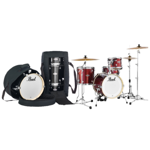 Pearl Midtown 4 Piece Shell Pack with Drum Cases in Black Cherry Glitter