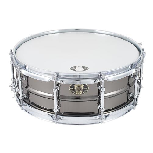 Ludwig Black Magic Snare Drum 14x5.5in, Chrome Tube Lugs, Chrome Hardware