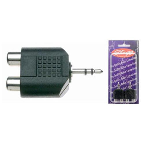 Stagg Female RCA - Stereo Mini Jack Adaptor