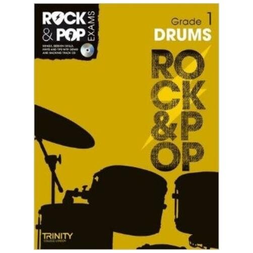 Trinity Rock & Pop Exam Book: Drums Grade 1