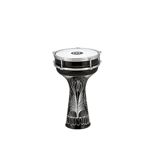 Meinl Aluminum Darbuka 8 inch x 14 1/2 inch Black Hand-Engraved