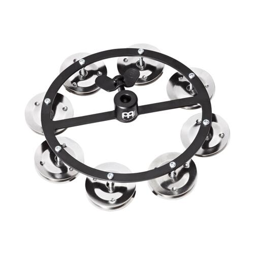 Meinl Headliner Series Hi-Hat Tambourine, 1 Row Steel Jingles, Black