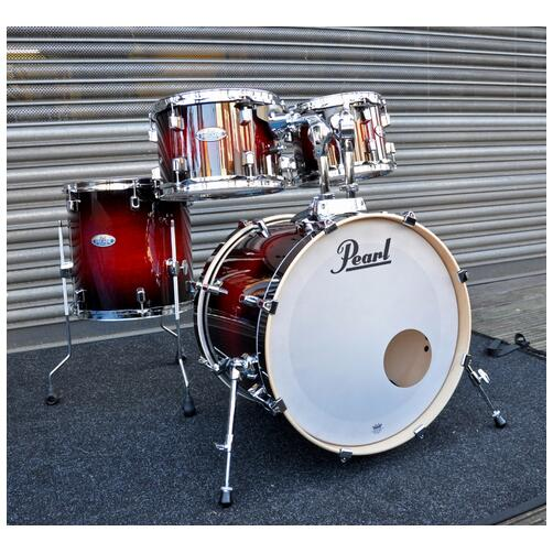 Pearl Decade Shell Pack Fusion in Gloss Deep Red Burst 10, 12, 14, 20bd