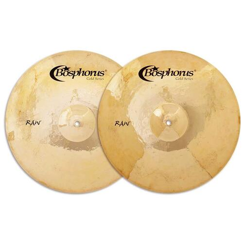 Bosphorus Gold Raw Series Hihat Cymbals Pair