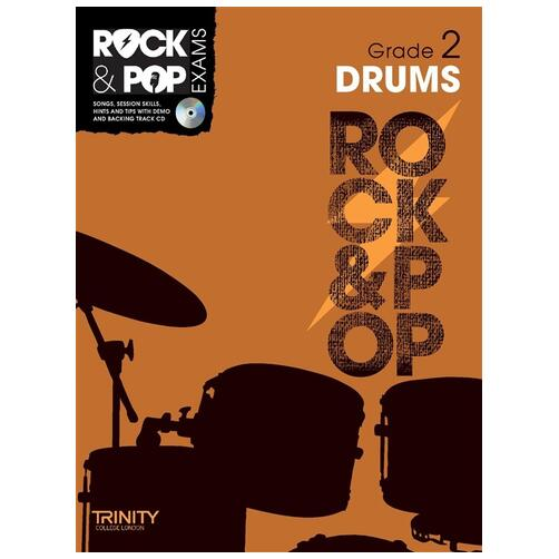 Trinity Rock & Pop Exam Book: Drums Grade 2