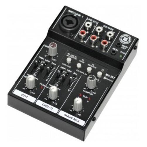 Topp Pro MX3BT – 3 Input Compact Mixer with USB & Bluetooth