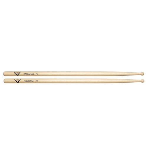Vater VH7AW Hickory Manhattan 7A Wood Tip Drum Sticks