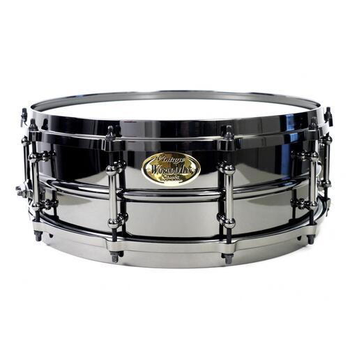 Worldmax 14 x 6.5 Black Brass Snare Drum with die-cast hoops – WMS BK-6514DHBX
