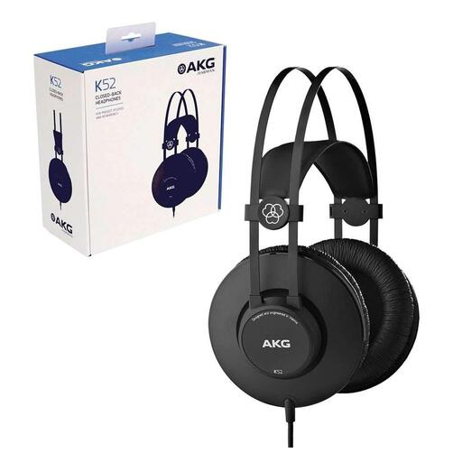 AKG K52 Closed Back Studio Headphones, Black