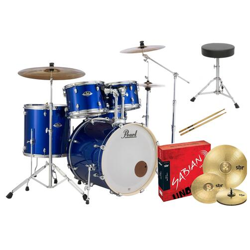 Pearl EXX Export American Fusion Drum Kit with Sabian Cymbals + FREE STICKS AND THRONE
