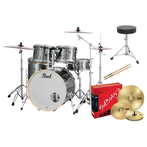 Pearl EXX Export Rock Drum Kit with Sabian Cymbals + FREE STICKS AND THRONE