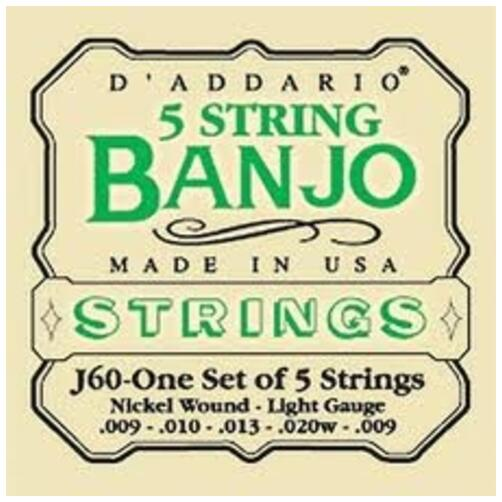Daddorio J61 5 String Banjo Strings - Nickel Wound