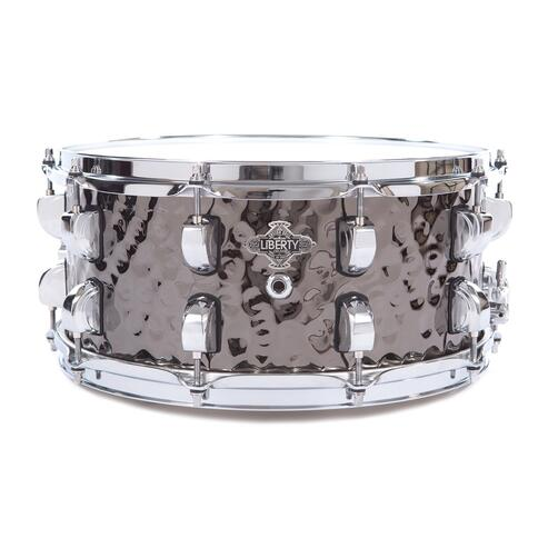 Liberty Metal Series 14x6.5 Snare, Hammered Black Nickel Over Brass