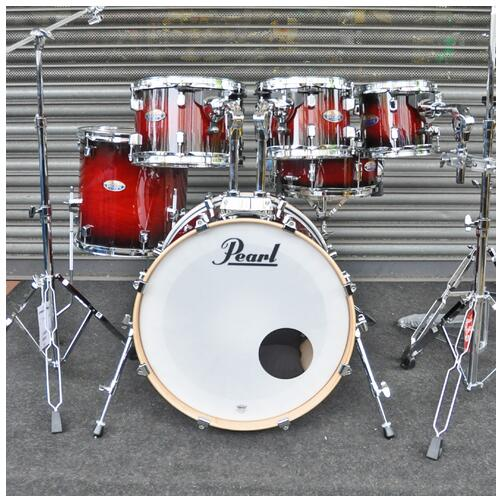 Pearl Decade Maple Fusion 6 piece Shellpack , Gloss Deep Red Burst 8, 10, 12, 14, 20bd 14 snare