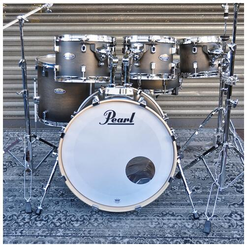 "Pearl 8"", 10"", 12"", 14"", 20"" Decade Shell Pack with Snare in Satin Black Burst"