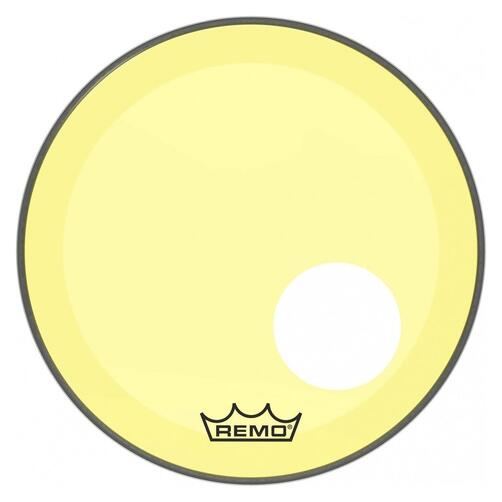 Remo P3 Resonant Colortone Yellow Bass Drum Heads, Ported