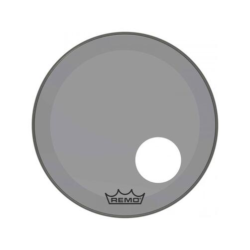 Remo P3 Resonant Colortone Smoke Bass Drum Heads, Ported