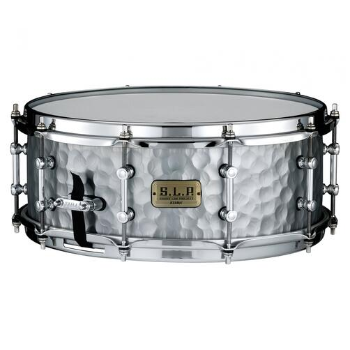 "Tama 14"" x 5.5"" SLP Series Vintage Hammered Steel Snare Drum"
