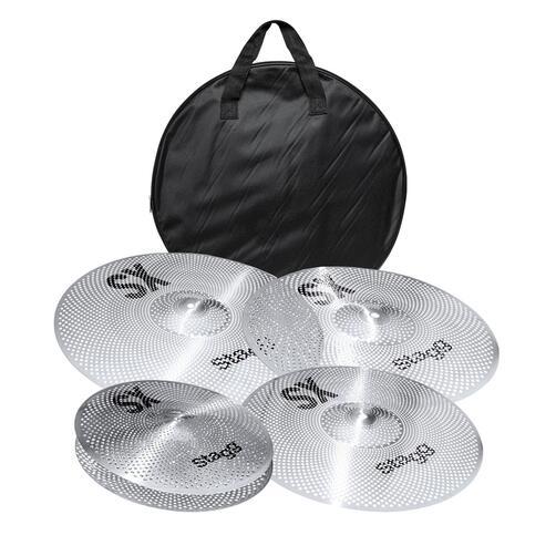 """Stagg SX Low Volume Cymbal Set - 14""""HH, 16"""" & 18"""" Crash, 20"""" Ride (SXM SET)"""
