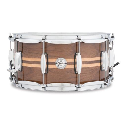 "Gretsch S1-6514W-MI Walnut with Maple Inlay 14"" x6.5"" Snare Drum"