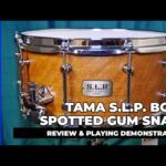 """Video thumbnail 0 - Tama S.L.P. Bold Spotted Gum 14""""x 6.5"""" Snare Drum (LSG1465-SNG)"""