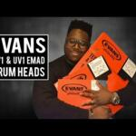 Video thumbnail 0 - Evans UV1 Coated Tom / Snare Skins