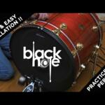 Video thumbnail 1 - RTOM Black Hole Snap-on Mesh BASS DRUM Practice Pad