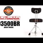 Video thumbnail 0 - Pearl D3500BR Roadster Multi-Core Saddle Drum Throne w/Back Rest