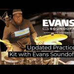 Video thumbnail 2 - Evans SoundOff Mesh Drum Heads - For Toms and Snares