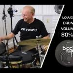 Video thumbnail 0 - RTOM Black Hole Snap-on Mesh BASS DRUM Practice Pad