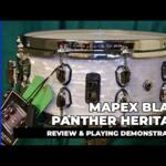 """Video thumbnail 0 - Mapex Black Panther HERITAGE 14""""x6"""" Maple Snare Drum BPNML4600CWD"""