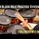 Video thumbnail 2 - RTOM Black Hole Snap-on Mesh BASS DRUM Practice Pad
