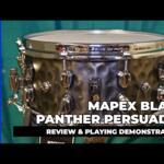 "Video thumbnail 0 - Mapex Black Panther PERSUADER 14""x6.5"" Hammered Brass Snare drum BPNBR465HCN"